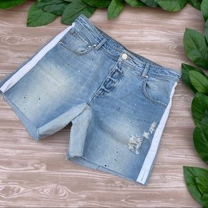 Kith Columbus Denim Distressed Men's Shorts 33